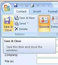 Save & Close